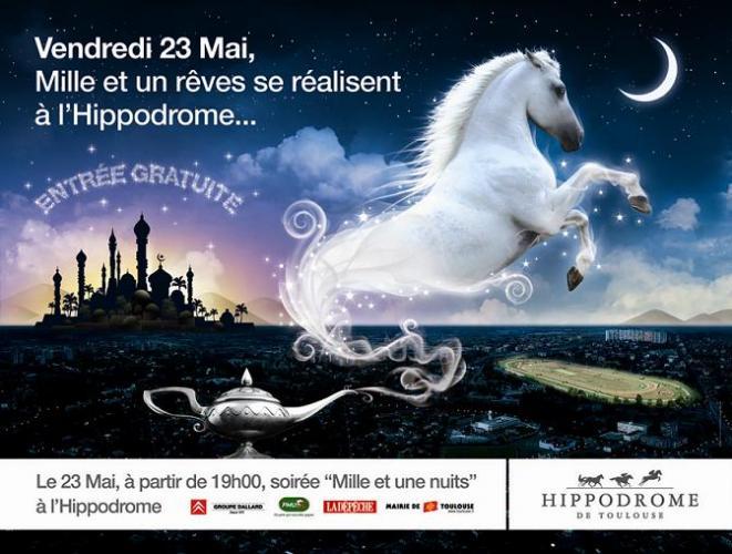 affiche 1001 nuits hippodrome